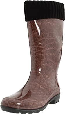 Kamik Women's Boa Insulated Rain Boot,Brown,8 M US