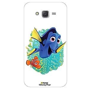 Hamee Disney Pixar Finding Dory Official Licensed Designer Cover Hard Back Case for Samsung Galaxy On5 / On 5( Dory Nemo1/White )