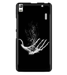 PRINTSWAG HAND WITH SMOKE Designer Back Cover Case for LENNOVO K3 NOTE