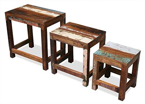 KMH-3er-Set-Tische-im-Shabby-Chic-Vintage-Style-aus-recyceltem-Sheeshamholz-gefertigt-202215