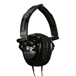 Skullcandy SCS-SCBP3.5 Skullcrushers Subwoofer Stereo Headphones (Black Pinstripe) (Discontinued by Manufacturer)