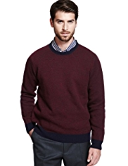 Collezione Wool Rich Birdseye Jumper with Cashmere