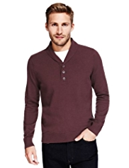 Pure Cotton Y-Neck Mock T-Shirt Jumper
