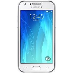 Samsung Galaxy J1 Smartphone débloqué 3G (Ecran : 4,3 pouces - 4 Go - Simple Micro-SIM - Android 4.4 KitKat) Blanc