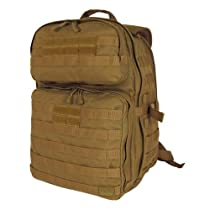 "RAPDOM Lethal 24, 1 Day Assault Pack (Coyote, 13""W x 19""H x 11""D) with Free Patch"