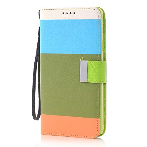 Nancy'S Shop Stand Case For Samsung Galaxy Note 4 Deego Colorful Wallet Pu Leather Credit Card Holder Pouch Case Cover For Samsung Galaxy Note 4 Iv (Colorful Wallet Nancy'S Shop Case Orange/Brown/Blue)
