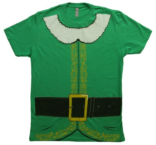 Buddy the Elf Movie Elf Trompe Costume Men's Green