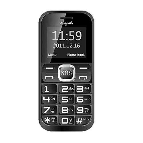 Anycool D88 Seniorenhandy Handy mit großen Tasten SOS ohne Vertrag für alle SIM Karten