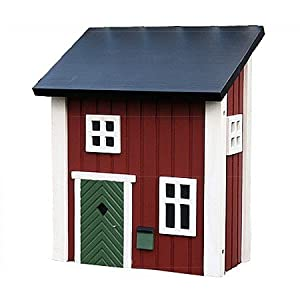 landhaus briefkasten postkasten holz schweden rot 39cm. Black Bedroom Furniture Sets. Home Design Ideas