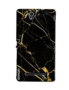 Omnam Italian Marble With Color Effect Printed Designer Back Cover Case For Sony Xperia C3