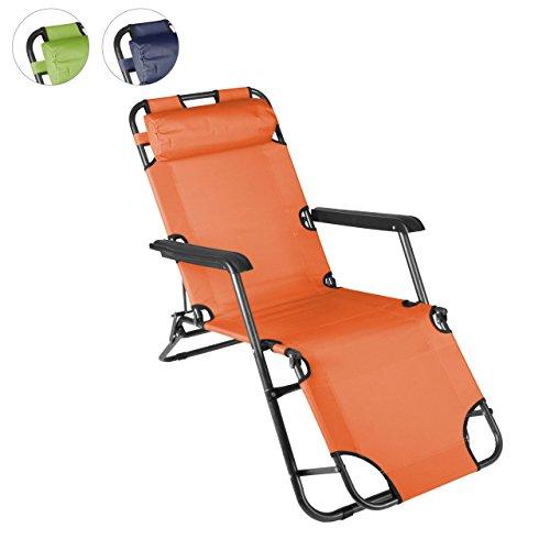 klappbare-Sonnenliege-Relaxliege-Liegestuhl-Klappliege-Stahl-Orange