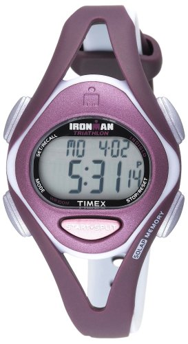 Timex Women's T5K007 Ironman Sleek 50-Lap Plum/Gray
