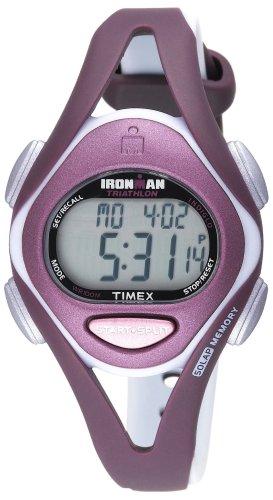 Timex Women's T5K007 Ironman Sleek 50-Lap Plum/Gray