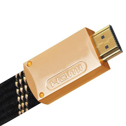High Speed HDMI FLAT Cable - Version 1.4, 24k Gold Plated with Male to Male Connectors with Ethernet Capability 25FT or 7.5M