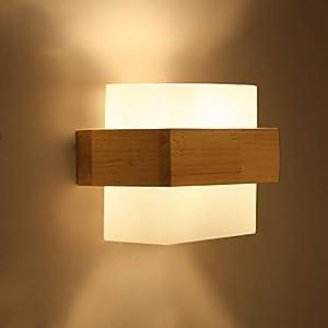 ZQ Kreative Holz Wandleuchte Moderne Einfache Schlafzimmer Nachttischlampe LED Wandleuchte