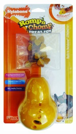 Nylabone Corp (Bones) Nth400P Romp-N-Chomp Rubber Wobbler With Treats