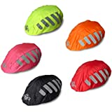 BTR High Visibility Universal Size Bike / Bicycle Waterproof Helmet Cover With Reflective Stripes - One Size Fits All