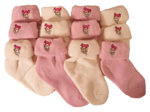**Great Value** Girls 6 pairs of Cosy Bed Socks SIZE 9.12 FOOT