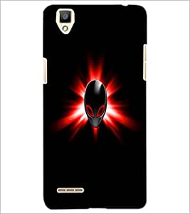 PrintDhaba Mask D-1994 Back Case Cover for OPPO F1 (Multi-Coloured)