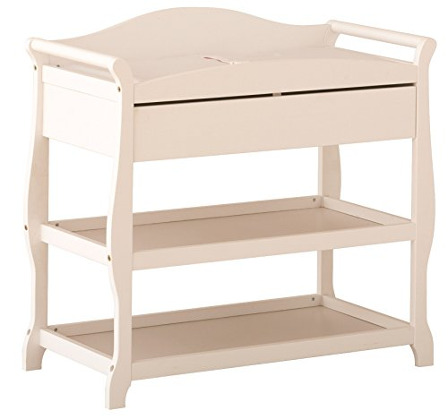 Stork Craft Aspen Changing Table with Drawer, White (White Changing Table Side compare prices)