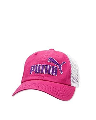 Puma Men's Frat Tuck Washed Snapback Hat, Black/Red, One Size