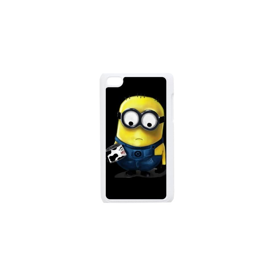 Despicable Me Custom Case for iPod Touch 4,Minions iTouch 4 Protective Cover(Black&White)   Retail Packaging