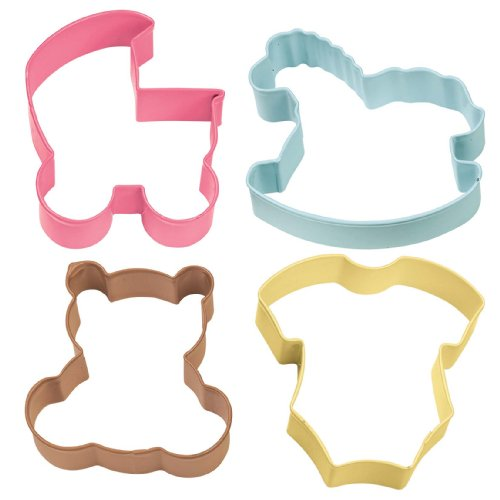 Wilton Baby Theme Cookie Cutter 4 Piece Set