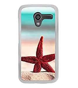 Red Star Fish 2D Hard Polycarbonate Designer Back Case Cover for Motorola Moto X :: Motorola Moto XT1052 XT1058 XT1053 XT1056 XT1060 XT1055