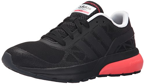 Adidas NEO Women's Cloudfoam Flow W Casual Sneaker,Black/Black/Flared,10 M US