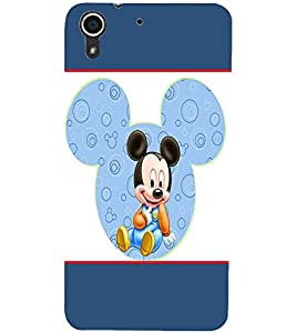 PrintDhaba Mickey Mouse D-1309 Back Case Cover for HTC DESIRE 728 (Multi-Coloured)