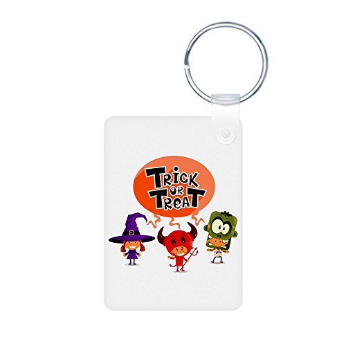 Aluminum Photo Keychain (2-Sided) Halloween Trick or Treat Kids