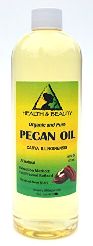 Pecan Oil Refined Organic Carrier Cold Pressed Premium 100% Pure 16 oz