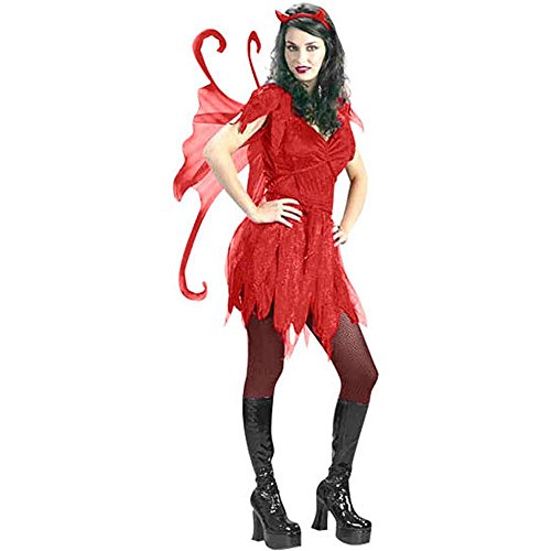 Devil Fairy Girl Adult Costume (Size: Small 2-8)