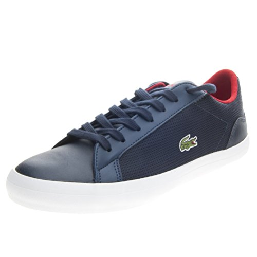 LACOSTE Lerond sneakers uomo PELLE TESSUTO NAVY BLU 7-31SPM0025003 41