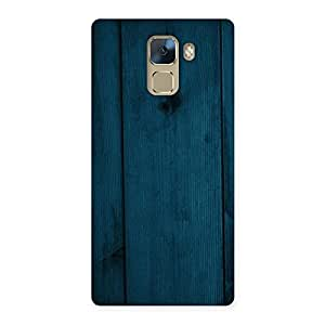 Delighted Blue Royal Wood Back Case Cover for Huawei Honor 7