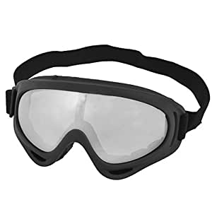 Black Winter Cycling Padded Eyewear Anti Dust Ski Goggles Sunglasses