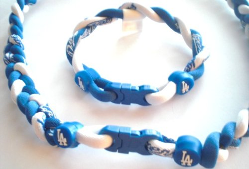 LA Dodgers Necklace/Bracelet Combo Set
