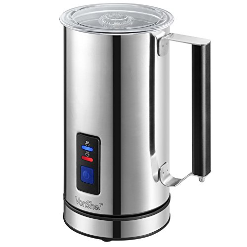 vonshef-premium-stainless-steel-dual-function-electric-milk-frother-free-2-year-warranty-warmer-for-