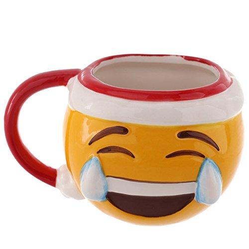 Tazza mug colazione Emoticon Emoji Risata natalizia di Natale