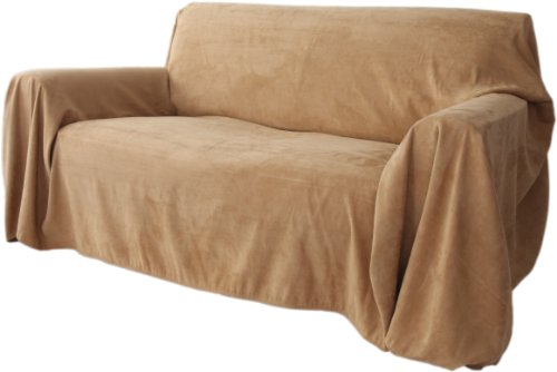 floppy ears design simple faux suede couch cover protector