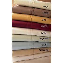 1000TC Cal King Water Bed Egyptian Cotton Bed Sheet Set -Unattached