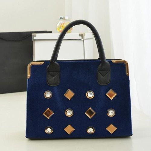 Women Handbag Horse Hair Diamond Shoulder Bag