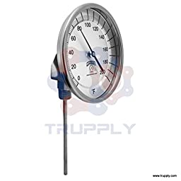 Winters TBM Series Stainless Steel 304 Dual Scale Bi-Metal Thermometer, 9\