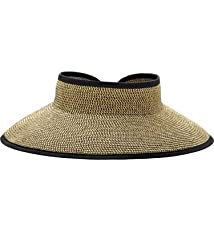 San Diego Hat Company UPF 50+ Roll Up Wide Brim Sun Visor Hat - Ultra Braid