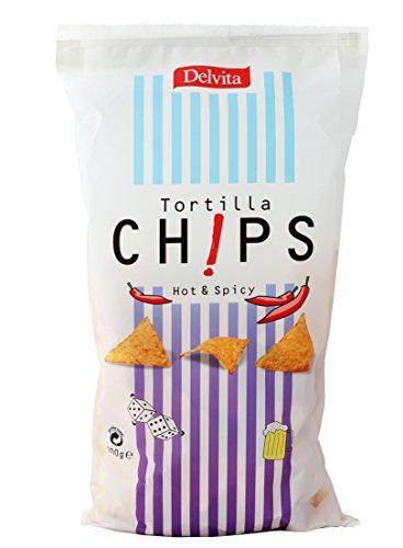 Delvita Tortilla Chips Hot und Spicy, 4er Pack (4 x 200 g)