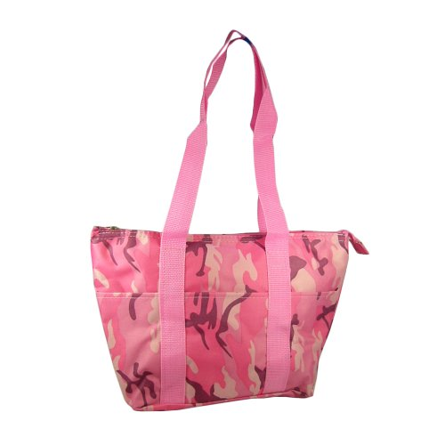Womens Thermal Insulated Lunch Bag Tote (Pink Camo)
