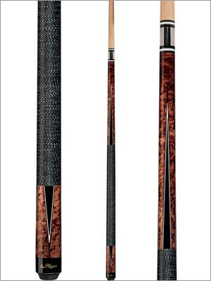 Players Umbra Birds-Eye Maple Pool Cue With Black And White Outline Transfer Points Style: 20 Oz.