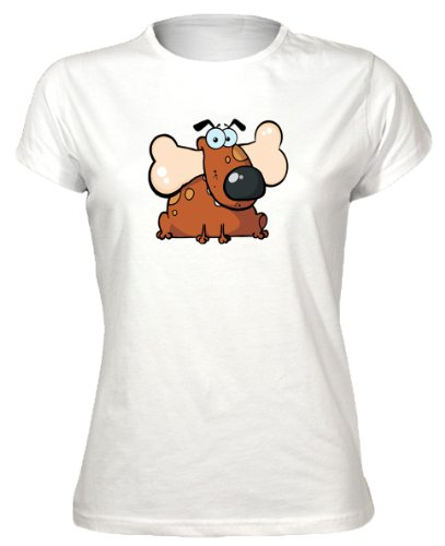 Dog and Bone Cute Animal Womens T-Shirt