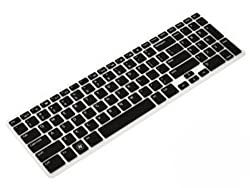 Yashi Laptop Keyboard Protector Cover BLACK Color Silicone Rubber for Dell 15R with Numeric