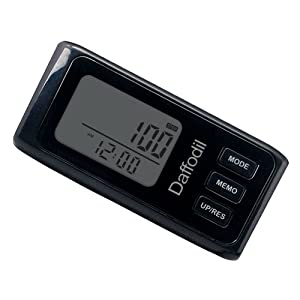 Daffodil HPC650 - 3D Walking Pedometer - Step Counter with Calorie Counter, Distance and Daily Progress Monitor - Black
